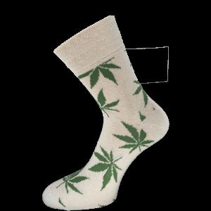 Konoplja nogavice z vzorcem – moška